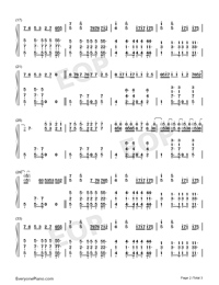 Cool-Jonas Brothers-Numbered-Musical-Notation-Preview-2