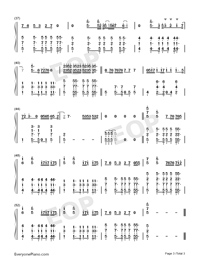 Cool-Jonas Brothers-Numbered-Musical-Notation-Preview-3