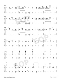 Hakuna Matata-The Lion King OST-Numbered-Musical-Notation-Preview-4