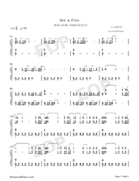 SET A FIRE-The Count of Monte-Cristo Gorgeous Revenge OST Numbered Musical Notation Preview 1