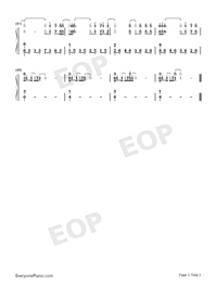 SET A FIRE-The Count of Monte-Cristo Gorgeous Revenge OST Numbered Musical Notation Preview 3