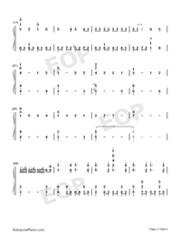 Inferno-Fire Force OP-Numbered-Musical-Notation-Preview-2