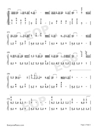 I Once-Ge Bi Lao Fan-Numbered-Musical-Notation-Preview-2