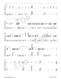 I Once-Ge Bi Lao Fan-Numbered-Musical-Notation-Preview-3