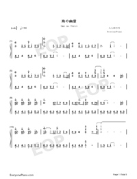 Umi no Yūrei-Children of the Sea Theme-Numbered-Musical-Notation-Preview-1
