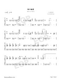 海の幽霊-海獣の子供主题歌両手略譜プレビュー1