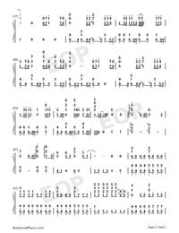 海の幽霊-海獣の子供主题歌両手略譜プレビュー2
