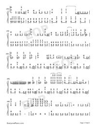 海の幽霊-海獣の子供主题歌両手略譜プレビュー3