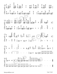 Umi no Yūrei-Children of the Sea Theme-Numbered-Musical-Notation-Preview-5