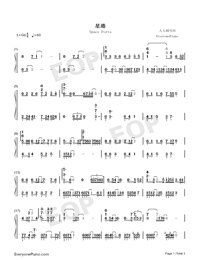 Space Ports-Mo Du Theme-Numbered-Musical-Notation-Preview-1