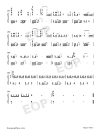 Space Ports-Mo Du Theme-Numbered-Musical-Notation-Preview-3