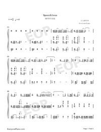 Speechless Accompaniment Version-Aladdin-Numbered-Musical-Notation-Preview-1