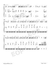 Speechless Accompaniment Version-Aladdin-Numbered-Musical-Notation-Preview-3