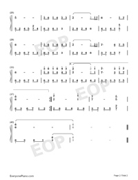 If I Were for Real Numbered Musical Notation Preview 2