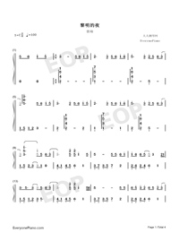 The Dawn Is Coming-Numbered-Musical-Notation-Preview-1