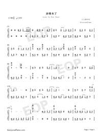 Love Is Not Over-TikTok Hot Song-Numbered-Musical-Notation-Preview-1