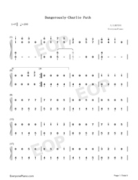 Dangerously-Charlie Puth-Numbered-Musical-Notation-Preview-1