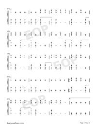 Dangerously-Charlie Puth-Numbered-Musical-Notation-Preview-3
