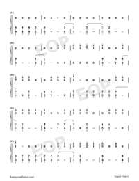 Dangerously-Charlie Puth-Numbered-Musical-Notation-Preview-5