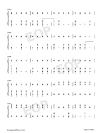 Dangerously-Charlie Puth-Numbered-Musical-Notation-Preview-7