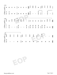 Dangerously-Charlie Puth-Numbered-Musical-Notation-Preview-9