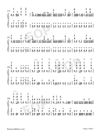 Onegai Muscle-How Heavy Are the Dumbbells You Lift OP-Numbered-Musical-Notation-Preview-2