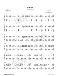 時光卷軸-雙笙和封茗囧菌雙手簡譜預覽1