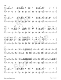 時光卷軸-雙笙和封茗囧菌雙手簡譜預覽2