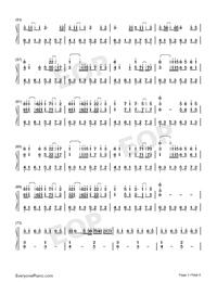 時光卷軸-雙笙和封茗囧菌雙手簡譜預覽3