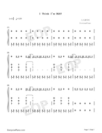 I Think Im Okay-Numbered-Musical-Notation-Preview-1
