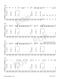 I Think Im Okay-Numbered-Musical-Notation-Preview-5