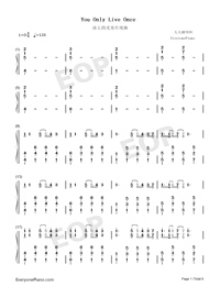 You Only Live Once-Yuri on Ice ED-Numbered-Musical-Notation-Preview-1