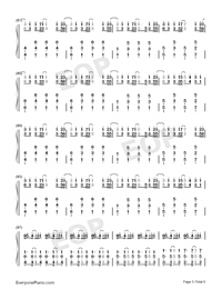 You Only Live Once-Yuri on Ice ED-Numbered-Musical-Notation-Preview-5