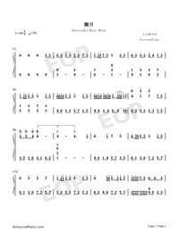 Oborozuki-Hazy Moon-Numbered-Musical-Notation-Preview-1