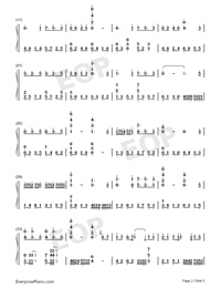 Oborozuki-Hazy Moon-Numbered-Musical-Notation-Preview-2