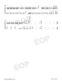 Oborozuki-Hazy Moon-Numbered-Musical-Notation-Preview-5