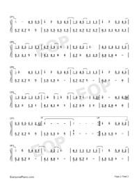 牛奶面包-親愛的熱愛的片尾曲-楊紫俏皮演繹少女心雙手簡譜預覽2