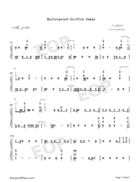 Bulletproof-Griffin Oskar-Numbered-Musical-Notation-Preview-1