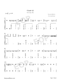 Cloud-Rolling Sky OST-Numbered-Musical-Notation-Preview-1