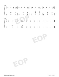 Cloud-Rolling Sky OST-Numbered-Musical-Notation-Preview-3