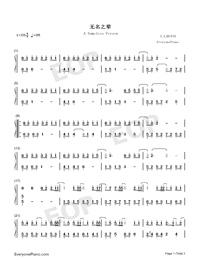 無名之輩-親愛的熱愛的主題曲-陳雪燃釋放熱血正能量雙手簡譜預覽1