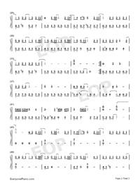 無名之輩-親愛的熱愛的主題曲-陳雪燃釋放熱血正能量雙手簡譜預覽2