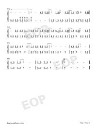 無名之輩-親愛的熱愛的主題曲-陳雪燃釋放熱血正能量雙手簡譜預覽3