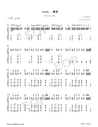 Candy-Rolling Sky-Numbered-Musical-Notation-Preview-1