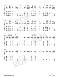 Candy-Rolling Sky-Numbered-Musical-Notation-Preview-2