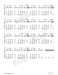 Candy-Rolling Sky-Numbered-Musical-Notation-Preview-3