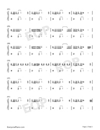 Mad Love-Mabel-Numbered-Musical-Notation-Preview-2