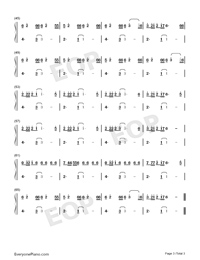 Mad Love-Mabel-Numbered-Musical-Notation-Preview-3