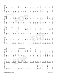 The Autumn-Dancing Line-Numbered-Musical-Notation-Preview-2