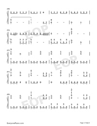 The Autumn-Dancing Line-Numbered-Musical-Notation-Preview-3